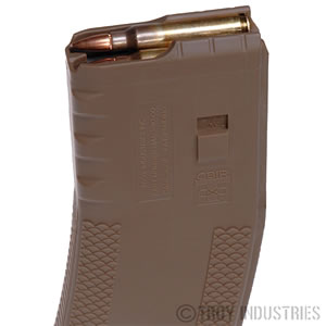 Troy SMAGSIN00TT AR-15 223 Remington/5.56 NATO 30 rd Coyote Magazine, Tan Finish