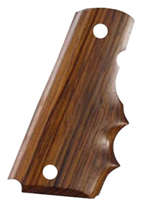 Hogue 45800 Coco Bolo Wood Finger Grooved Grips For Colt 45
