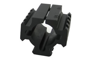 TacStar Shotgun Rail Mount 1081100, Shotgun Rail Short 1.8 inch, Black