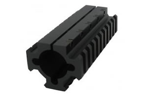 TacStar Shotgun Rail Mount 1081104 Shotgun Rail Long 4.1 inch, Black