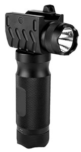 Aim Sports FTG180 Vertical Foregrip With 180 Lumen Flashlight Matte Blk Aluminum