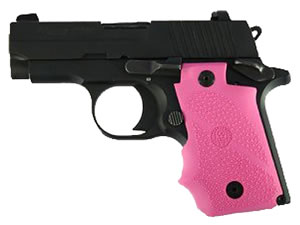 Hogue 38007 Sig Sauer P238 Rubber Grip w/Finger Grooves Pink