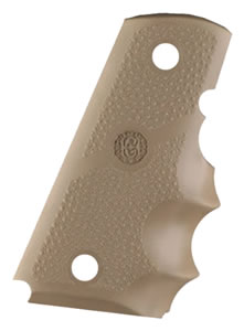 Hogue 43003 1911 Officers Model Rubber Grip w/Finger Grooves Desert Tan