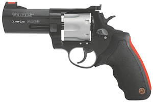 Taurus Model 444 Multi Ultra-Lightweight Revolver 2444041ULT, 44 Remington Mag, 4 in BBL, Sngl / Dbl, Fiber Opt Sights, Ultralite Titanium Blue Finish, 6 Rds