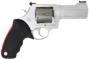 Taurus Model 444 Ultralite Revolver 2444049ULT, 44 Rem Mag, 4 in, Rubber Grip, Ultralite Titanium / Stainless Finish, 6 Rd