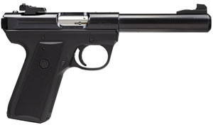 Ruger Model 22/45 Mark III P512MK3 Pistol 10107, 22 Long Rifle, 5 1/2 in in BBL, Single, Chk Polymer Grips, Blue Finish, 10 + 1 Rds, Adj Sights