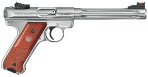 Ruger Mark III Model KMKIII678H Rimfire Pistol 10118, 22 Long Rifle, 6 7/8 in BBL, Sngl Actn Only, Half Coco Grips, Stainless Finish, 10 + 1 Rds