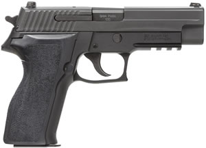 "Sig Sauer P226 Pistol E26R-9-BSS, Full Size, 9 mm, 4.4"" Barrel, DA/SA, Ergo Grips, Nitron Slide/Black Anodized Frame Finish, 15 + 1 Rd, w/ SIGLITE Night Sights"