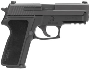 "Sig Sauer P229 Pistol E29R-9-B, 9 mm, 3.9"" Barrel, DA/SA, Black Polymer Factory Grips, Nitron Slide/Black Anodized Frame Finish, 15 + 1 Rd, Contrast Sights"