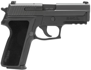 "Sig Sauer P229 Pistol E29R-9-BSS, 9 mm, 3.9"" Barrel, DA/SA, Black Polymer Factory Grips, Nitron Slide/Black Anodized Frame Finish, 15 + 1 Rd, SigLite Night Sights"