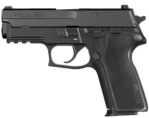 "Sig Sauer P229 Pistol E29R-357-BSS, 357 Sig, 3.9"" Barrel, DA/SA, Black Polymer Factory Grips, Nitron Slide/Black Anodized Frame Finish, 12 + 1 Rd, SigLite Night Sights"