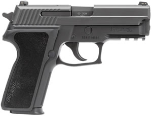 "Sig Sauer P229 Pistol E29R-40-BSS, 40 S&W, 3.9"" Barrel, DA/SA, Black Polymer Factory Grips, Nitron Slide/Black Anodized Frame Finish, 12 + 1 Rd, SigLite Night Sights"