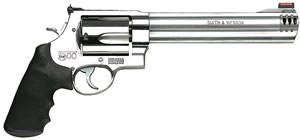 Smith & Wesson Model 500 Revolver 163501, 500 S&W, 8 3/8 in BBL, Sngl / Dbl, Syn Grips, Satin Stainless Finish, 5 Rds