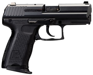 HK P2000 SK V3 Sub Compact Pistol 709303A5, 9 MM, 3.3 in BBL, Sngl / Dbl, Modular Syn Grips, 3-Dot Sights, Blue Finish, 10 + 1 Rds