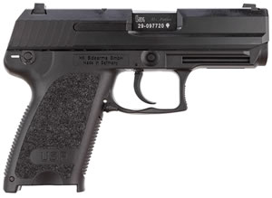 HK USP 45 Compact Pistol 704531A5 , 45 ACP, 3.8 in BBL, Sngl / Dbl, Modular Syn Grips, 3-Dot Sights, Blue Finish, 8 + 1 Rds