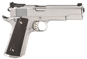 Colt Government Special Combat Pistol O1970CM, 45 ACP, 5 in BBL, Sngl Actn Only, Silver Blk Grips, Hard Chrome Finish, 8 + 1 Rds