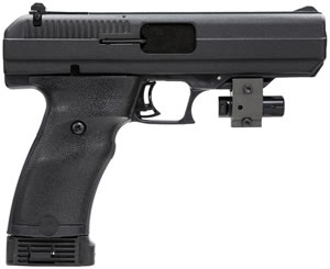 Hi Point Pistol 34011L, 40 S&W, 4 1/2 in BBL, Dbl Actn Only, Polymer Grips, 3-Dot & Laser Sights, Blk Finish, 10 + 1 Rds