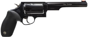 Taurus Model 45/410 Tracker Revolver 2441061T, 410 GA / 45 Long Colt, 6 1/2 in BBL, Sngl / Dbl, Ribber Grip Overlay, Fiber Opt Sights, Blue Finish, 5 Rds