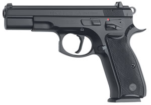 CZ Model 75B Pistol 01150, 9 MM, 4.7 in BBL, Sngl Actn Only, Blk Syn Grips, Fixed Sights, Blk Finish, 10 + 1 Rds