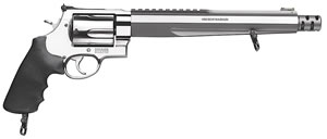 Smith & Wesson Model 460XVR Performance Center Revolver 170262, 460 S&W MAG, 10 1/2 in BBL, Sngl / Dbl, Syn Grips, Satin Stainless Finish, 5 Rds