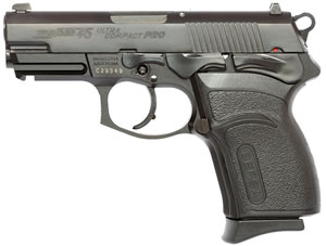 Bersa Thunder 45 Ultra Compact Pistol T45MP, 45 ACP, 3.6 in BBL, Sngl / Dbl, Polymer Grips, Mt Blk Finish, 7 + 1 Rds