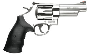 Smith & Wesson Model 629 Revolver 163603, 44 Remington Mag, 4 in BBL, Sngl / Dbl, Syn Grips, Satin Stainless Finish, 6 Rds