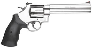 Smith & Wesson Model 629 Classic Revolver 163638, 44 Remington Mag, 6 1/2 in BBL, Sngl / Dbl, Rubber Grips, Satin Stainless Finish, 6 Rds