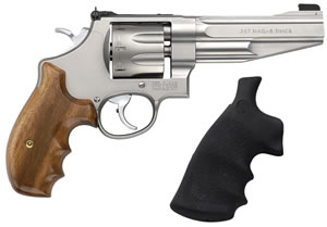 Smith & Wesson Model 627 Performance Center Revolver 170210, 357 Remington Mag, 5 in BBL, Sngl / Dbl, Wood Grips, Mt Stainless Finish, 8 Rds