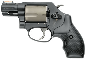 Smith & Wesson Model 360 AirLite PD Revolver 163064, 357 Remington Mag, 1 7/8 in BBL, Sngl / Dbl, Hogue Bantam Grips, Blue Finish, 5 Rds