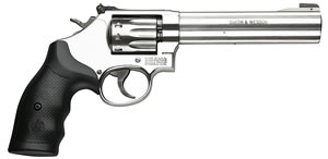 Smith & Wesson Model 617 Rimfire Revolver 160578, 22 Long Rifle, 6  in BBL, Sngl / Dbl, Syn Grips, Satin Stainless Finish, 10 Rds