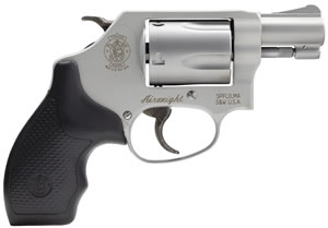 Smith & Wesson Model 637 Airweight Revolver 163050, 38 Special, 1.87 in BBL, Sngl / Dbl, Syn Grips, Mt Silver Finish, 5 Rds