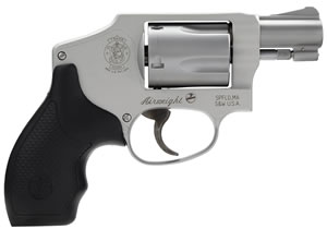 Smith & Wesson Model 642 Airweight Revolver 163810, 38 Special, 1.87 in BBL, Dbl Actn Only, Syn Grips, Stainless Finish, 5 Rds