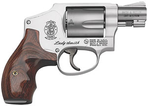 Smith & Wesson Model 642 Special Ladysmith Revolver 163808, 38 Special, 1.87 in in BBL, Double, Wood Grips, Stainless Finish, 5 Rds