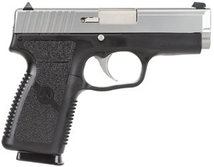Kahr Model K9 Pistol KP9093, 9 MM, 3 1/2 in BBL, Dbl Actn Only, Syn Grips, Blk Polymer/SS Finish, 7 + 1 Rds