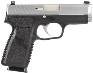 Kahr Model K9 Pistol KP9093N, 9 MM, 3 1/2 in BBL, Dbl Actn Only, Syn Grips, Tritium Night Sights, Blk Polymer/SS Finish, 7 + 1 Rds