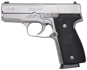 Kahr Model K9 Pistol K9093A, 9 MM, 3 1/2 in BBL, Dbl Actn Only, Syn Grips, Matte Stainless Finish, 7 + 1 Rds
