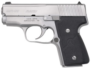 Kahr Model MK40 Pistol M4043A, 40 S&W, 3 in BBL, Dbl Actn Only, Wrap Text Nylon Grips, Mt Stainless Finish, 5 + 1, 6 + 1 Rds