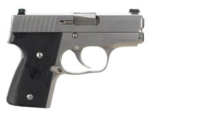Kahr Model MK9 Pistol M9093N, 9 MM, 3 in BBL, Dbl Actn Only, Wrap Text Nylon Grips, Tritium Night Sights, Stainless Finish, 6 + 1, 7 + 1 Rds
