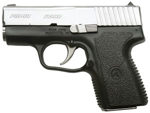 Kahr Model PM40 Micro Compact Pistol PM4043N, 40 S&W, 3 in BBL, Dbl Actn Only, Polymer Grips, Tritium Night Sights, Mt Stainless Finish, 5 + 1 Rds