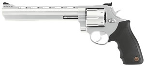 Taurus Model 44 Large Frame Revolver 244089, 44 Remington Mag, 8 3/8 in BBL, Sngl / Dbl, Rubber Grips, Adj Sights, Mt Stainless Finish, 6 Rds