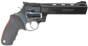 Taurus Model 44 Raging Bull Large Frame Revolver 2444061, 44 Remington Mag, 6 1/2 in BBL, Sngl / Dbl, Rubber Grips, Blue Steel Finish, 6 Rds