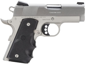 Colt Defender Pistol O7000D, 45 ACP, 3 in BBL, Sngl Actn Only, Rubber Wrap Grips, Fixed 3 Dot Sights, SS Finish, 7 + 1 Rds