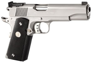 Colt Gold Cup Trophy Pistol O5070X, 45 ACP, 5 in BBL, Sngl Actn Only, Blk Rubber Grips, Stainless Finish, 8 + 1 Rds
