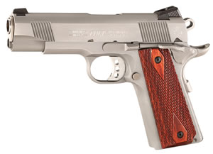 Colt XSE Lightweight Commander Pistol O4860XSE, 45 ACP, 4 1/4 in BBL, Sngl Actn Only, Rosewood Grips, 3-Dot Sights, Stainless Finish, 8 + 1 Rds