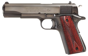 Colt Government Model 70 Pistol O1970A1CS, 45 ACP, 5 in BBL, Sngl Actn Only, Rosewood Grips, Fixed Sights, Blue Finish, 7 + 1 Rds