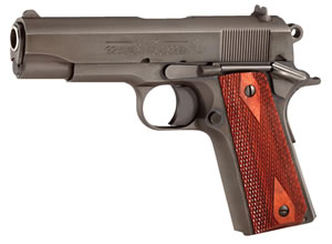 Colt 1991 Commander Pistol O4691, 45 ACP, 4 1/4 in BBL, Sngl Actn Only, Rosewood Grips, 3-Dot Sights, Mt Blue Finish, 7 + 1 Rds