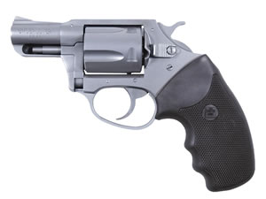 Charter Arms Undercover Revolver 73820, 38 Special + P, 2 in BBL, Sngl / Dbl, Rubber Grips, Fixed Sights, Stainless Finish, 5 Rds