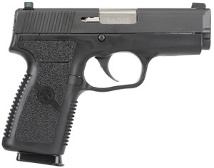 Kahr Model P9 Pistol KP9094N, 9 MM, 3 1/2 in BBL, Dbl Actn Only, Syn Grips, Tritium Night Sights, Blk Polymer/Blk SS W/Tungsten DLC Finish, 7 + 1 Rds