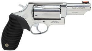 Taurus Model 45/410 Tracker Revolver 2441039TPSS, 410 GA / 45 Long Colt, 3 in BBL, Sngl / Dbl, Ribber Grip Overlay, Fiber Opt Sights, Polished SS Finish, 5 Rds