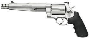 Smith & Wesson Model 500 Revolver 170299, 500 S&W, 7 1/2 in BBL, Sngl / Dbl, Syn Grips, Satin Stainless Finish, 5 Rds